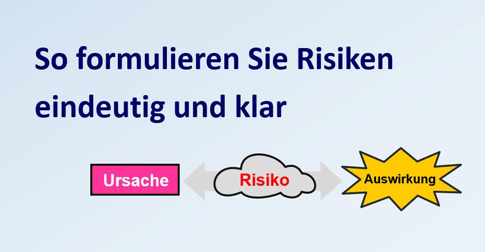 Risiken eindeutig und klar formulieren